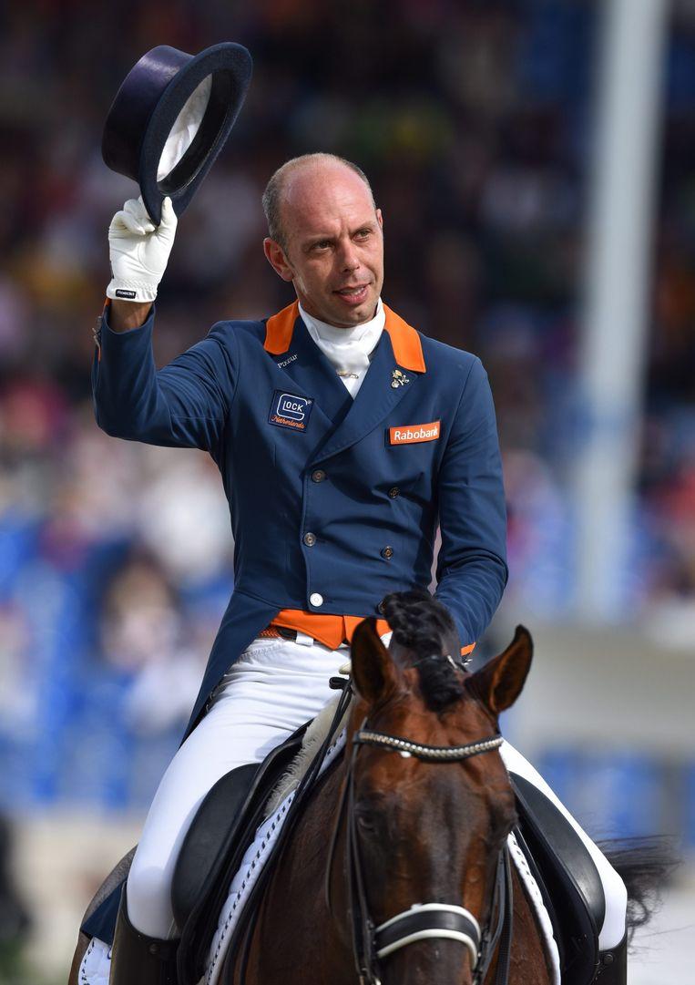 Hans Peter Minderhoud op zijn paard Glocks Johnson. Beeld anp