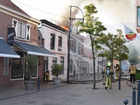 Bewoner gewond bij  brand  in  hartje 's Gravenzande