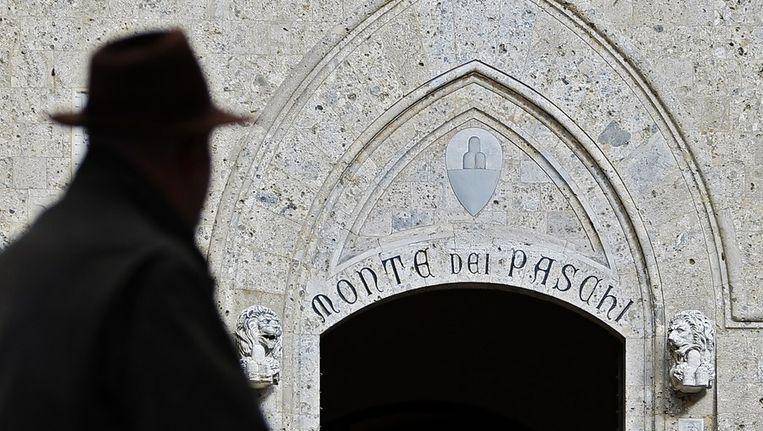 Hoofdkantoor van de noodlijdende Italiaanse bank Monte dei Paschi Beeld epa