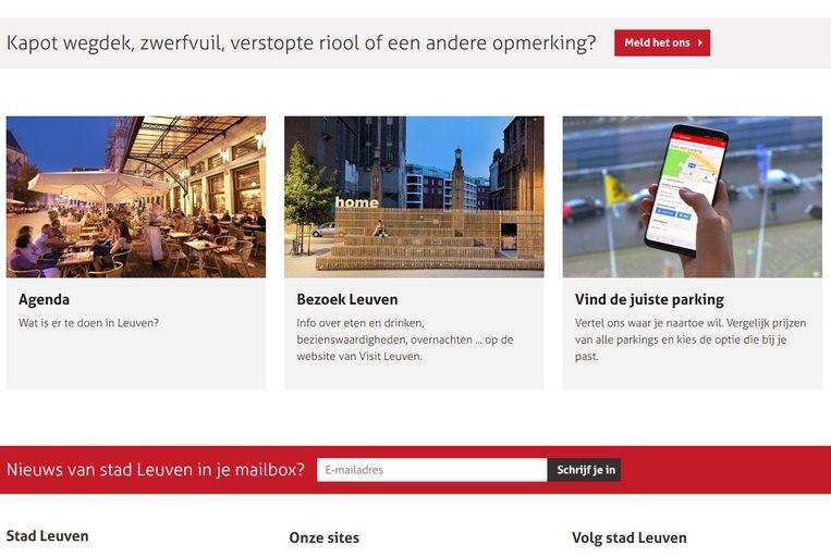Leuvenaars zijn tevreden over de stedelijke website.