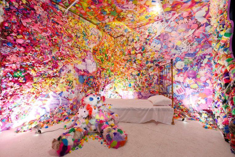 Werk van Sebastian Masuda, Colorful Rebellion Seventh Nightmare 2014. Beeld Gion