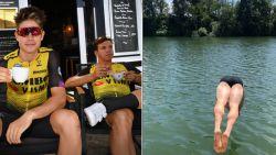 IN BEELD. Dit doen de renners op de rustdag: een frisse duik, de FaceApp Challenge en veel koffie
