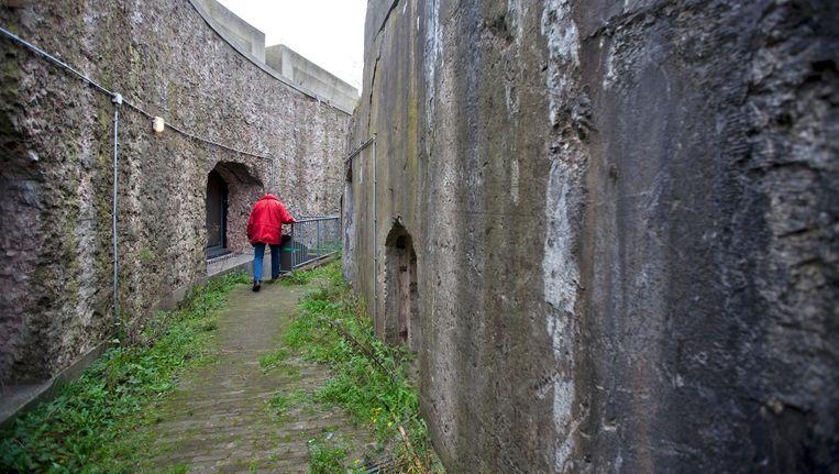 Forteiland IJmuiden, het grootste fort van de Stelling van Amsterdam. 'De stelling laat mooi de oorsprong van Amsterdam zien, ons gevecht met en onze liefde voor het water.' Beeld anp
