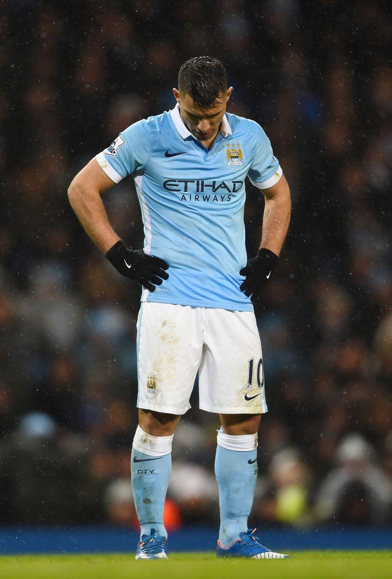 Manchester City-spits Aguero kwam niet tot scoren Beeld getty