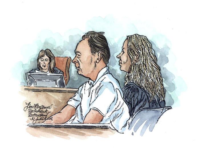 Bert de L. tijdens een zitting in 2012.