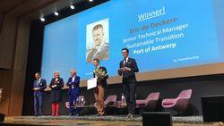 Manager Havenbedrijf wint award voor duurzaamheid