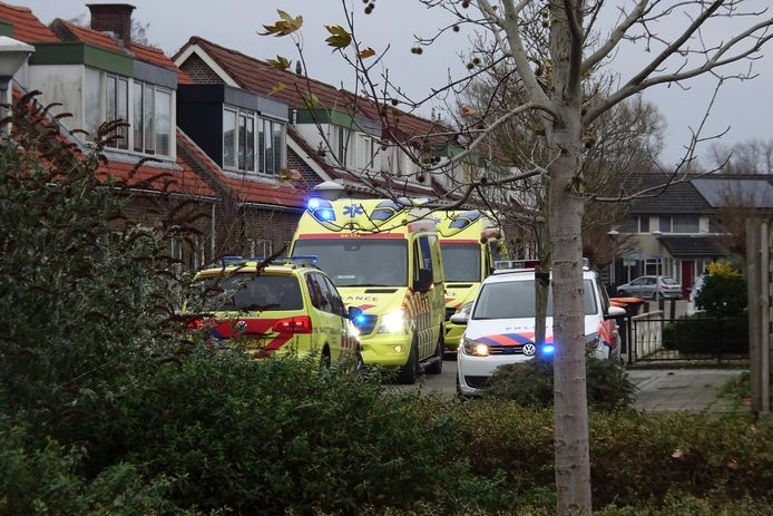 Hulpdiensten rukten massaal uit naar de woning in Wijhe.