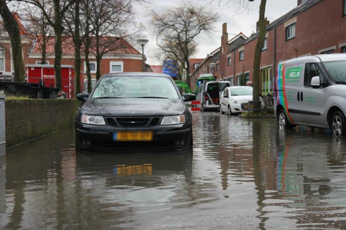 Wateroverlast op Westerstraat