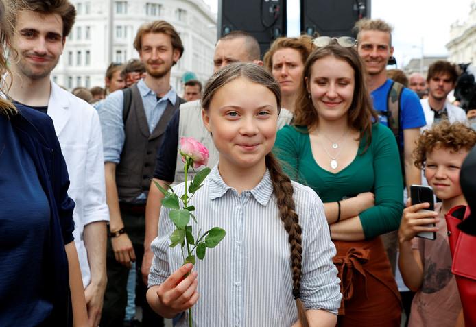 La jeune militante pour le climat Greta Thunberg.