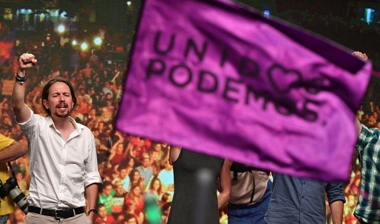 Podemos-leider Pablo Iglesias. Beeld afp