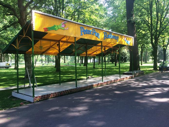 Een groot deel van het Valkenbergpark zal volstaan met kramen