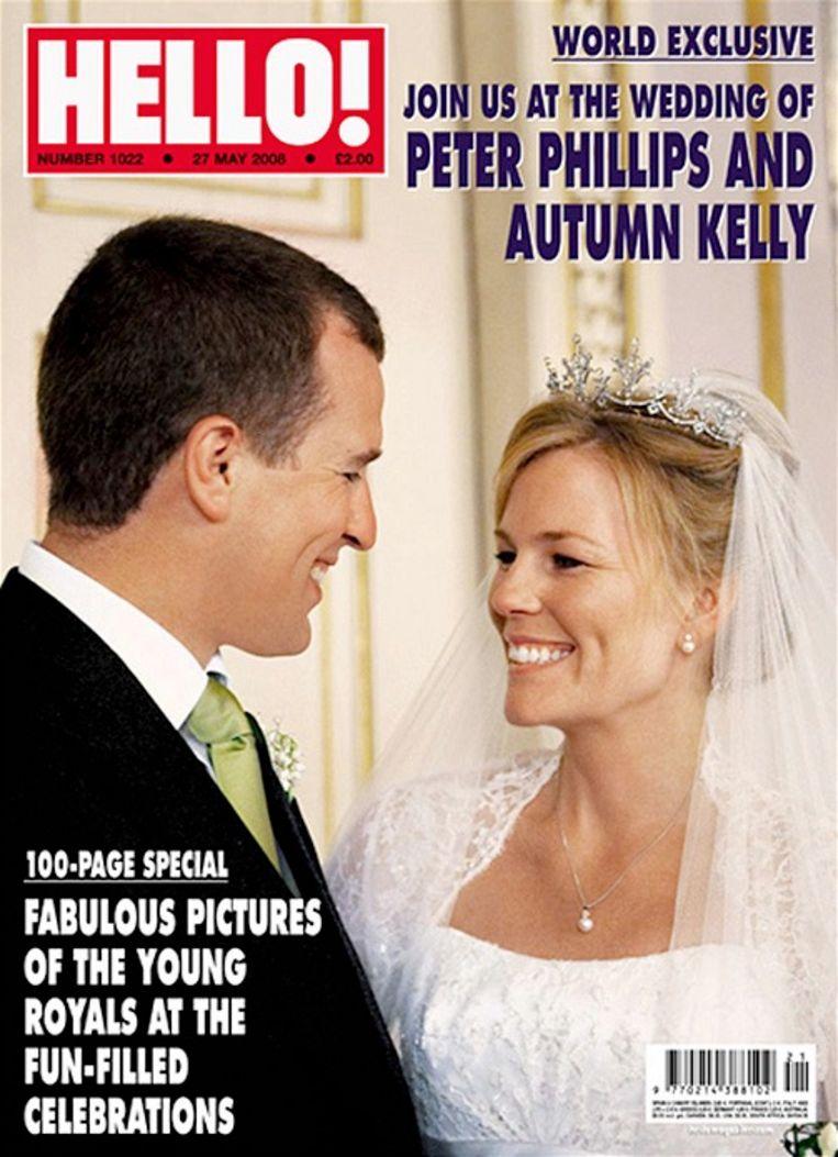 Peter Phillips en zijn Canadese partner Autumn Kelly trouwden in 2008.
