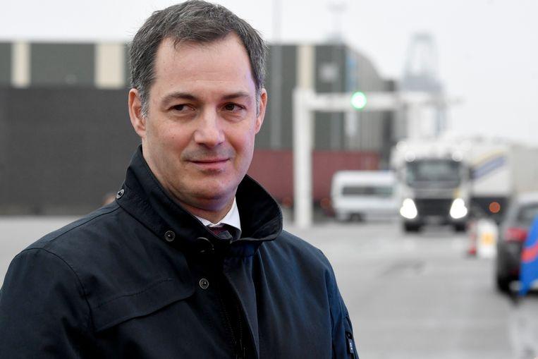 Minister Alexander De Croo in Beveren op 08/01/2020.