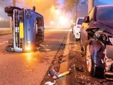 Nieuw-Lekkerlandse (19) raakt met auto op de kant na ongeval