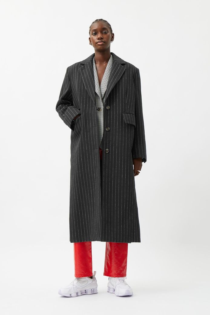 Manteau long ligné