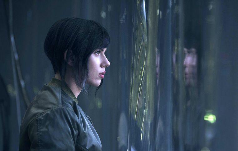 Scarlett Johansson in de remake Beeld