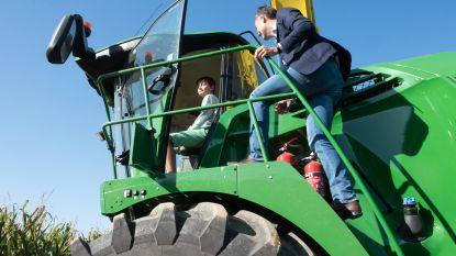 Alexander De Croo en zoon Tobias oogsten maïs op druk bijgewoonde Werktuigendagen