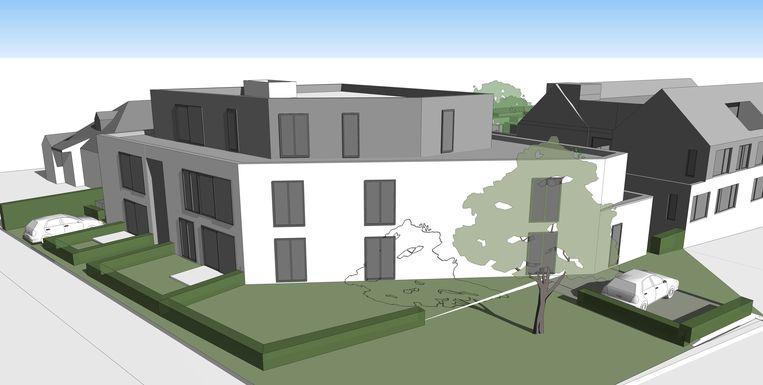Een 3D-beeld van de nieuwe assistentiewoningen