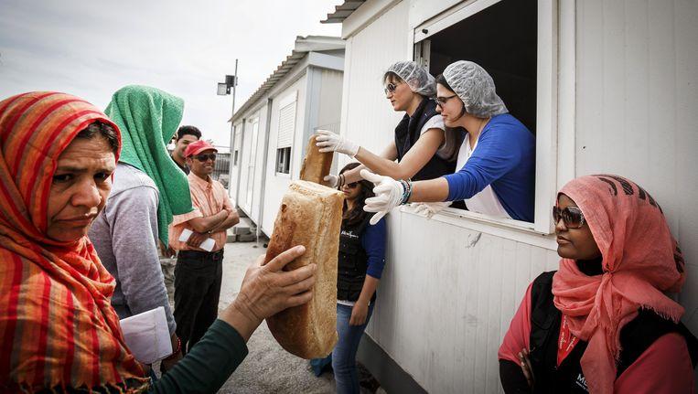 Een opvangkamp voor vluchtelingen in het Griekse Eleonas. Beeld anp