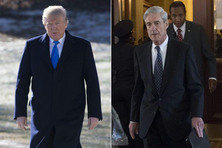 Toen de advocaat van het Witte Huis hoorde dat Trump (links op de foto) Mueller (rechts) wou ontslaan vanwege mogelijke belangenvermenging stelde hij zijn veto. Hij waarschuwde voor de rampzalige gevolgen voor Trumps presidentschap. Daarop krabbelde Trump terug.