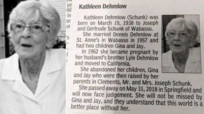 """""""Kathleen zal niet gemist worden"""": familie rekent af met overledene in opvallend scherp overlijdensbericht"""