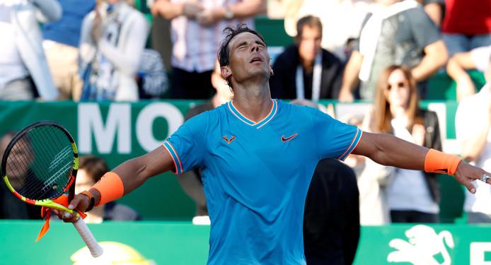 Rafael Nadal bereikt halve finale van Monte Carlo.