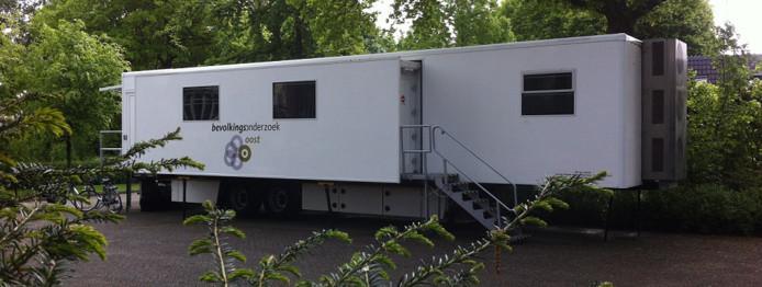 De mobiele onderzoeksunit van Bevolkingsonderzoek Oost staat vanaf 11 juli tot begin november op de parkeerplaats bij sportcentrum Vondersweijde.
