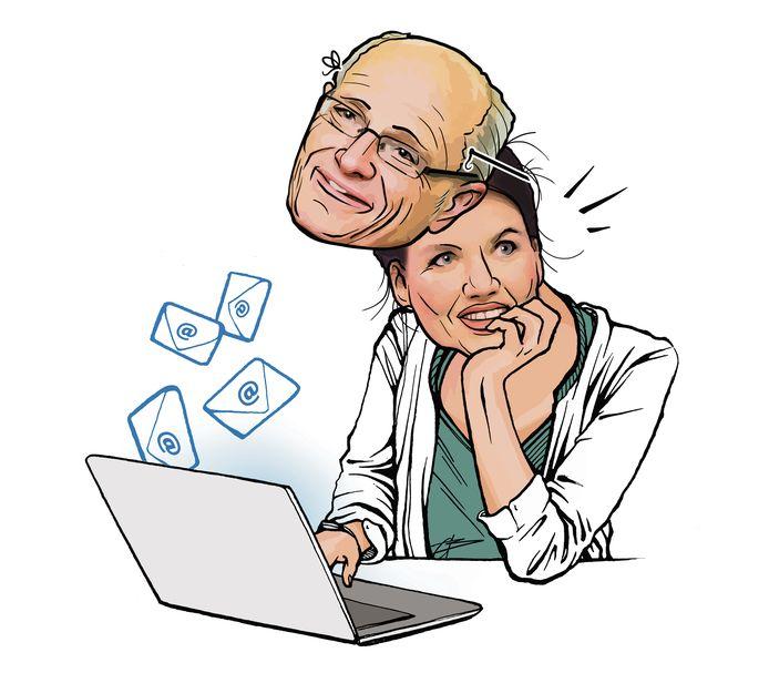 Gerard Sanderink en Rian van Rijbroek