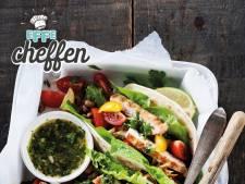 Taco's met kalkoen en chimichurri