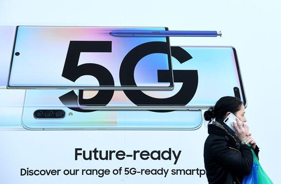 Een advertentie voor een 5G-netwerk.