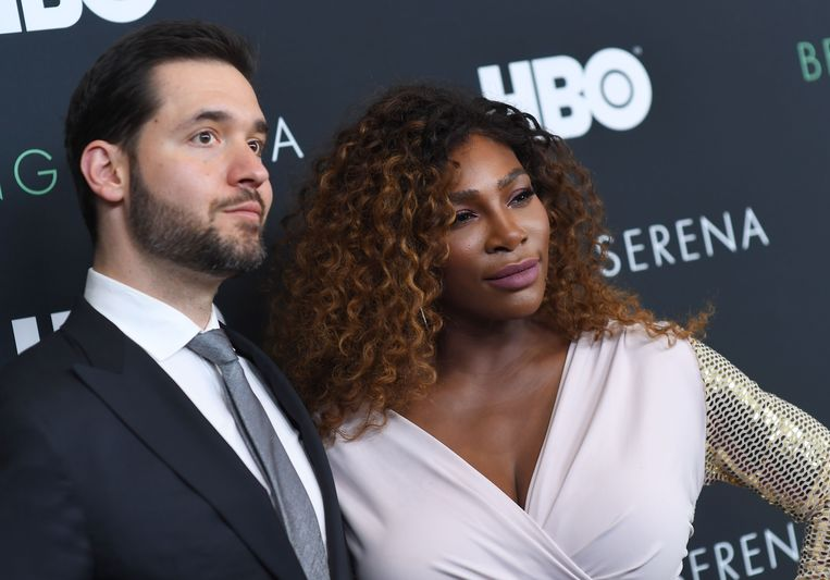 Serena Williams en haar man Alexis Ohania.