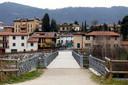 Het verlaten Alzano Lombardo, een gemeente in de provincie Bergamo.