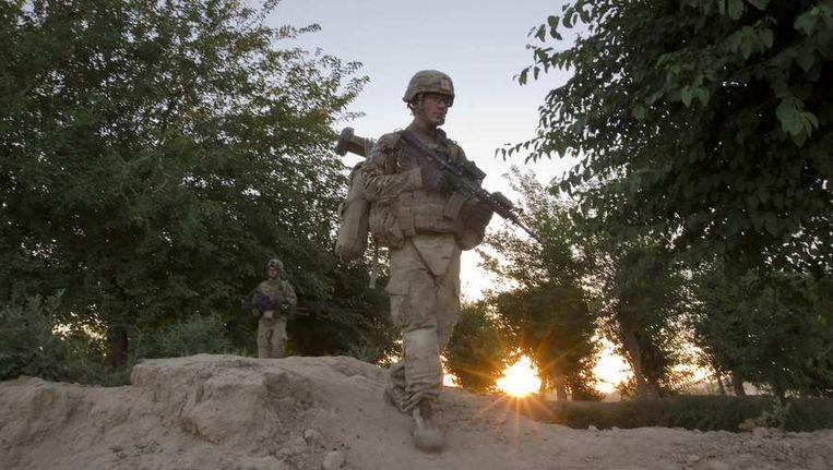 Amerikaanse militairen in de Afghaanse provincie Kandahar. Beeld reuters