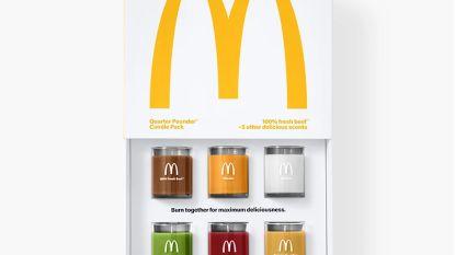 McDonald's brengt geurkaarsen uit die samen ruiken naar hamburger