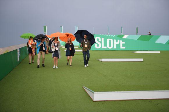 De genodigden kregen een bezoek aan The Slope op de festivalweide van Rock Werchter