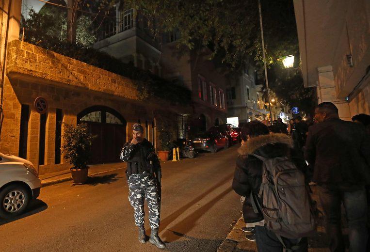 Het huis in Beiroet waar Ghosn zich momenteel zou bevinden.