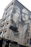 Streetart van Ben Slow op hotel Ostend.