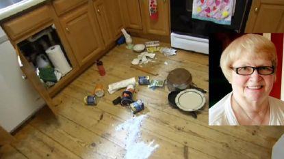 Vrouw wordt gewekt door vreemde geluiden en treft beer in keuken aan, waarna het dier haar aanvalt