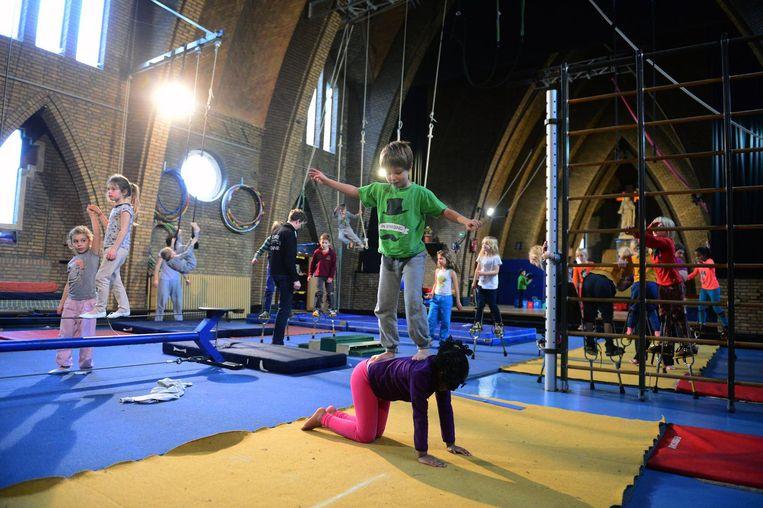 Enkele kinderen tijdens het vorige kamp van 'Cirkus in Beweging'.