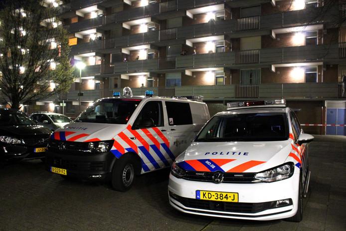 De flat aan de Sandenburgstraat in Breda waar Kaan Safranti in april werd doodgeschoten.