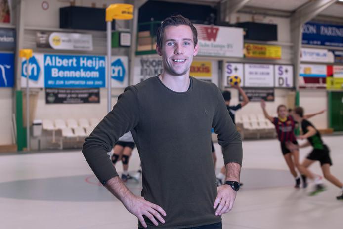 Chris van Haren begint de nieuwe zaalcampagne met DVO tegen het Amsterdamse Blauw Wit.