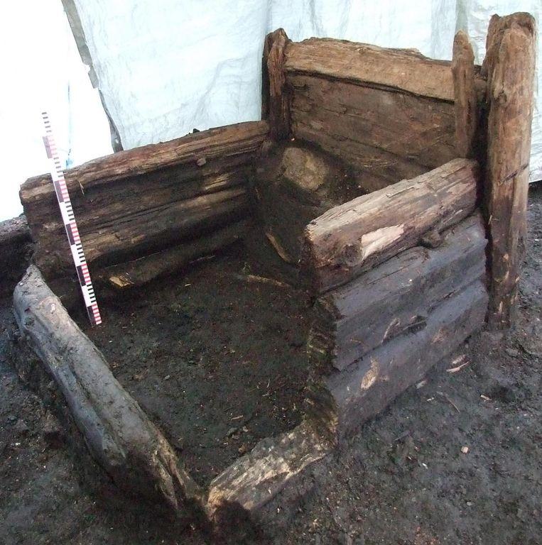 De Middeleeuwse latrine in Riga, zoals die er nu bijligt. Beeld Uldis Kaljis
