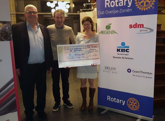 Rotary Club Overijse-Zoniên geeft cheque aan De Berken