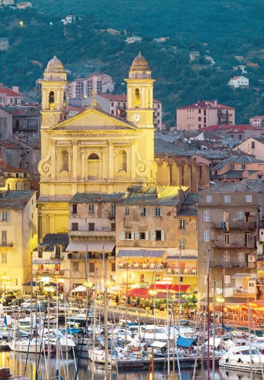De oude haven van Bastia