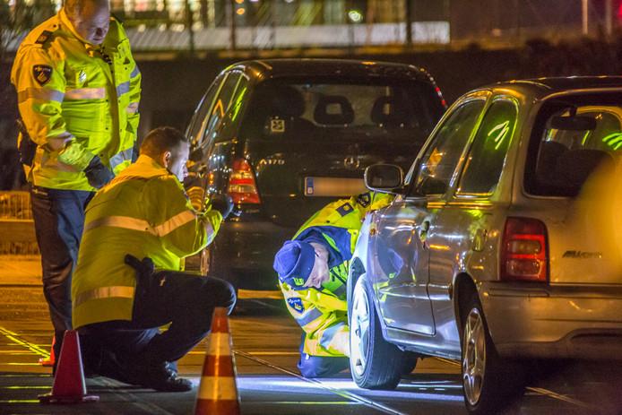 De politie controleerde vele voertuigen.