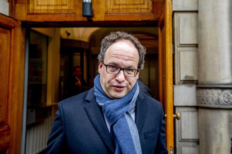 Minister Wouter Koolmees vertrekt op het Binnenhof na de wekelijkse ministerraad. Beeld ANP