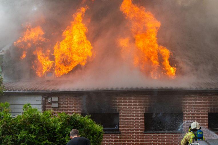 De hevige brand bij De Clou.