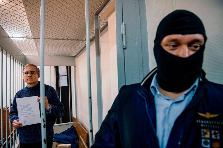 Paul Whelan vandaag in de rechtbank in Moskou.