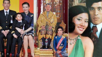 Zijn vierde echtgenote houdt nog vol, maar waar zijn eerste drie vrouwen van Thaise koning gebleven?