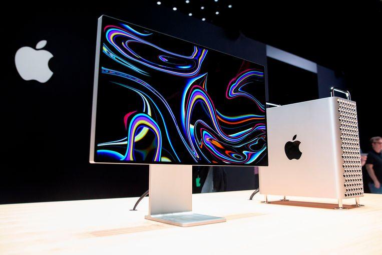 Apples nieuwe hardware: de Pro Display XDR met de Pro Stand en de Mac Pro.